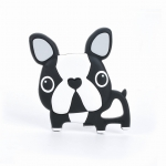 GRYZAK SILIKONOWY BOSTON TERRIER BLACK  / LOULOU LOLLIPOP
