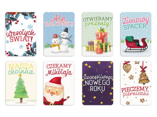Zestaw świąteczny Karty Do Zdjęć 8 Szt Mikołaj Pierniczki Choinka Paper Smile